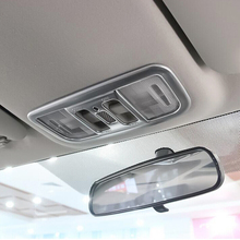 accessories For Honda City Sedan 2014 2015 2016 car Styling ABS Plastic Chrome Car front reading Lampshade panel Cover Trim 1pcs for honda accord 10th 2018 2019 accessories abs chrome car front reading lampshade panel and glasses box cover trim car styling