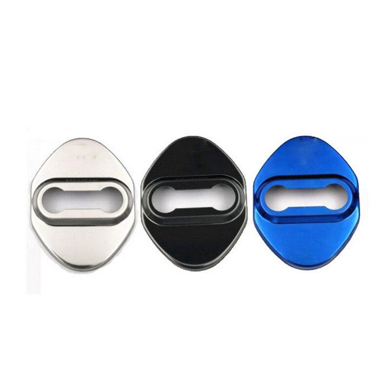 4Pcs Car Door Lock Cover Shell for Toyota TRD Corolla Avensis Rav4 AurisYaris Car Door Lock Cover DIY Case Interior Parts