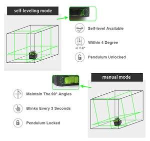 Image 4 - Huepar 12 라인 3D 크로스 라인 레이저 레벨 그린 레이저 빔 셀프 레벨링 360 수직 및 수평 레드 레이저 강화 안경