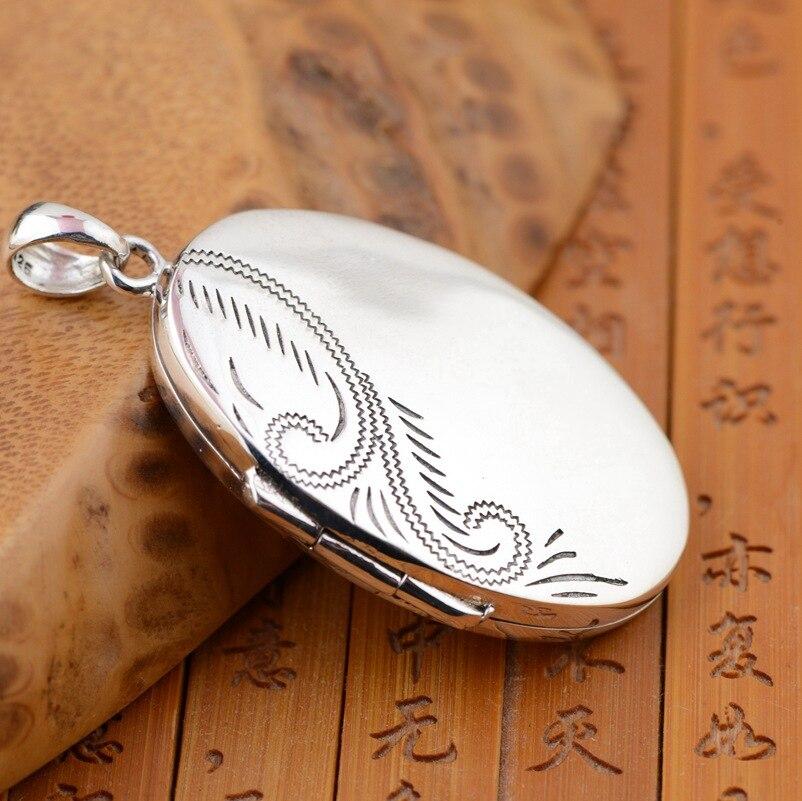 En gros S925 en argent Sterling cerf gawu pendentif écriture essentielle boîte magique peut être ouvert