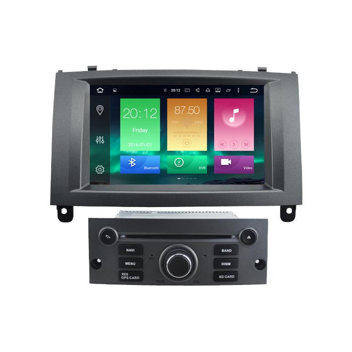 android 6 0 car dvd radio gps media autoradio player for peugeot 407 2gb 32gb px5 8 core in car. Black Bedroom Furniture Sets. Home Design Ideas