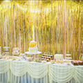 Gold Foil Fringe Curtain 1*2M Door Curtains Tinsel Shining Party  Wedding Birthday Marriage Gathering Decoration HG0198