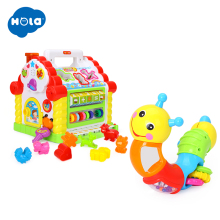 Activity House Shape Sorter with Music/Light/Cubic Block & Twist n Turn Caterpillar