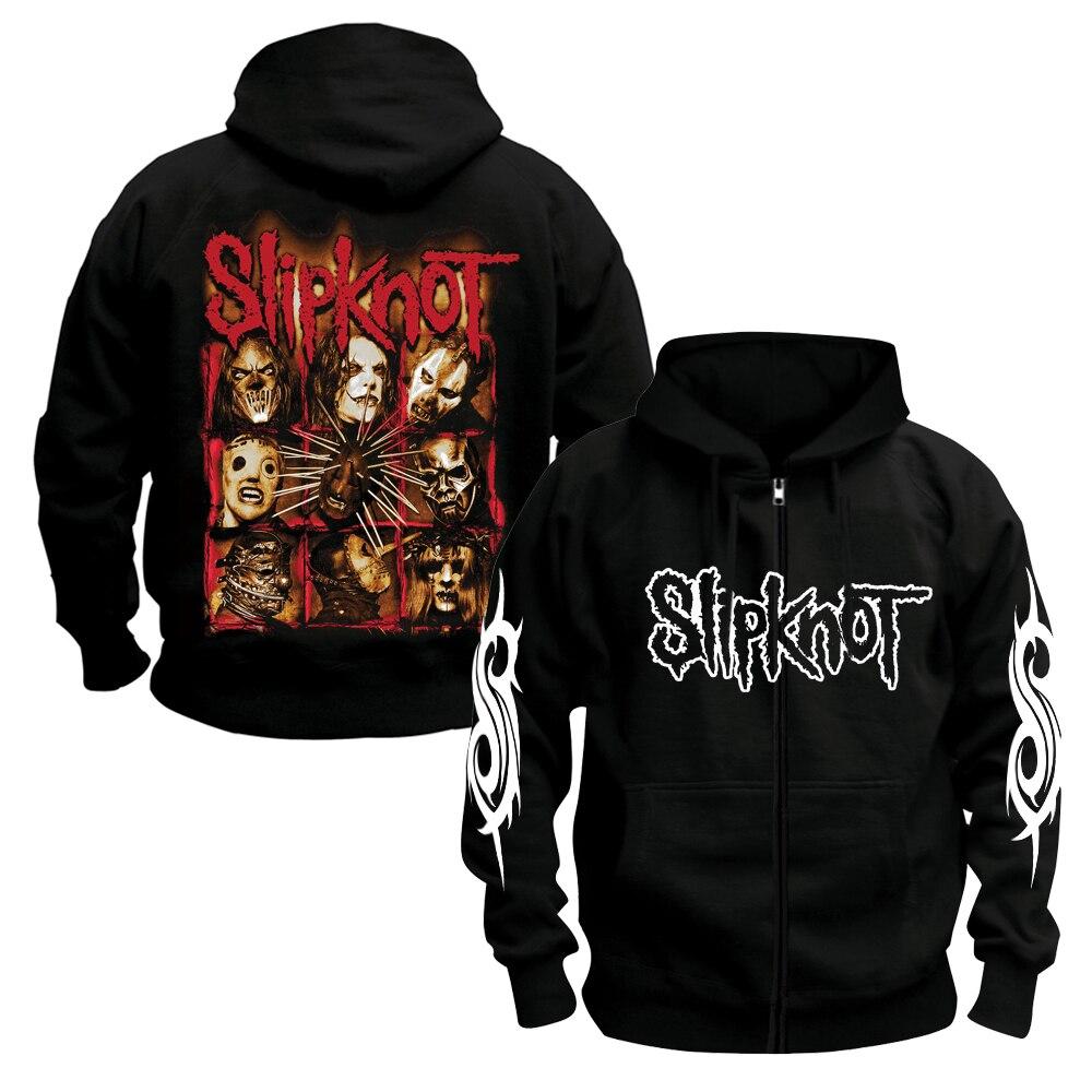 Bloodhoof SLIPKNOT Heavy Metal Hard Rock Music Black Cotton Hoodie Asian Size
