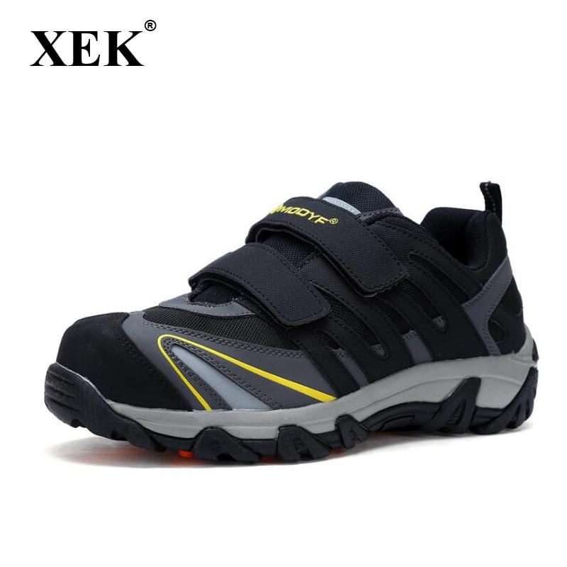 7765e461e Cheap XEK verano ocasionales respirables ligeros ZAPATOS DE TRABAJO puntera  de acero Anti smashing zapatos de