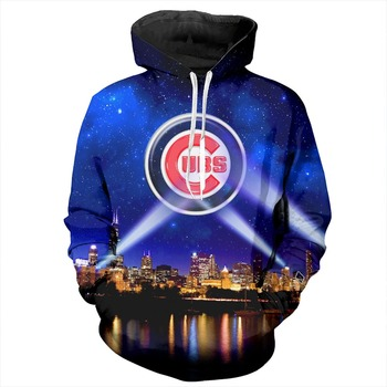 YX Girl 7XL Mens 3d Print Chicago Cubs Hoodie Men Women  Hooded Sweatshirt Autumn Thin Pullover Outwear  Dropshipping andrew lee cubs time