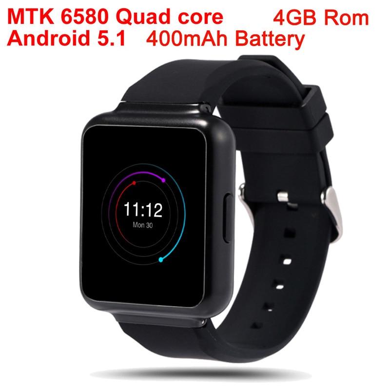 MTK 6580 Quad core Smart Watch Q1 Android 5.1 watch Phone WiFi 1.54 inch 4GB Rom GPS 3G Bluetooth Nano Sim Heart Rate Monitor no 1 d6 1 63 inch 3g smartwatch phone android 5 1 mtk6580 quad core 1 3ghz 1gb ram gps wifi bluetooth 4 0 heart rate monitoring