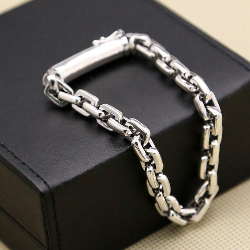 Populaire étoile verse fermoir cadeau d'anniversaire 925 bracelet en argent sterling bracelet pour femmes et hommes bandes argent 925 bijoux GB14