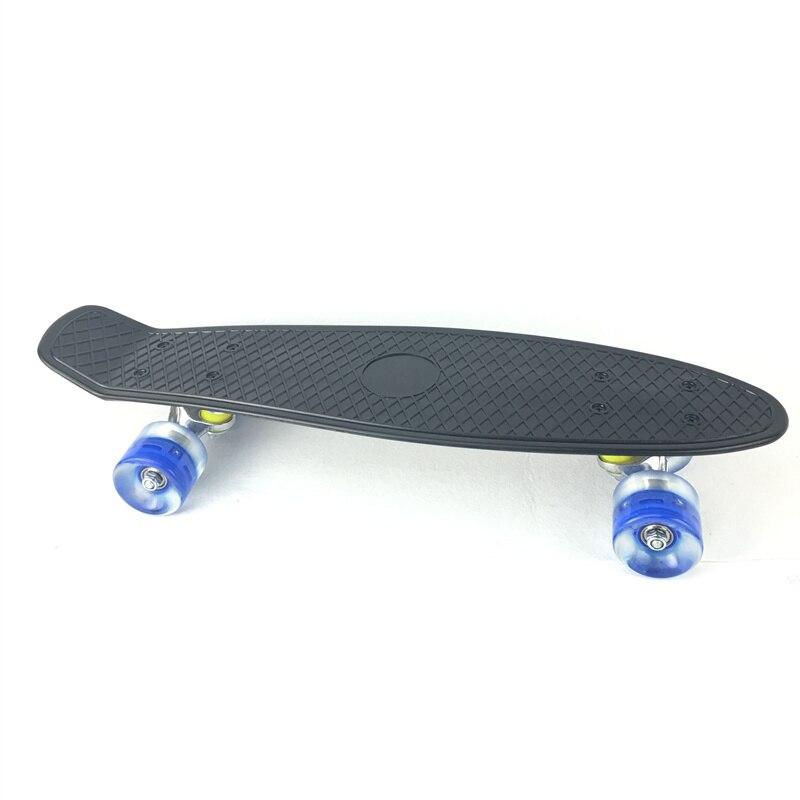 3 couleurs Pastel quatre roues 22 pouces Mini Cruiser Skateboard rue longue planche à roulettes Sports de plein air avec roues lumière LED - 2