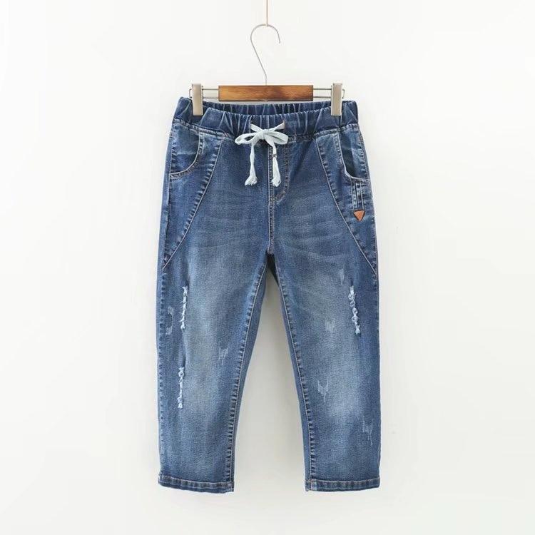 Summer Skinny   Jeans   Capris Women Calf-Length Pants Denim Pants High Waist Women's   Jeans   Plus Size Female Short   Jean   For Woman