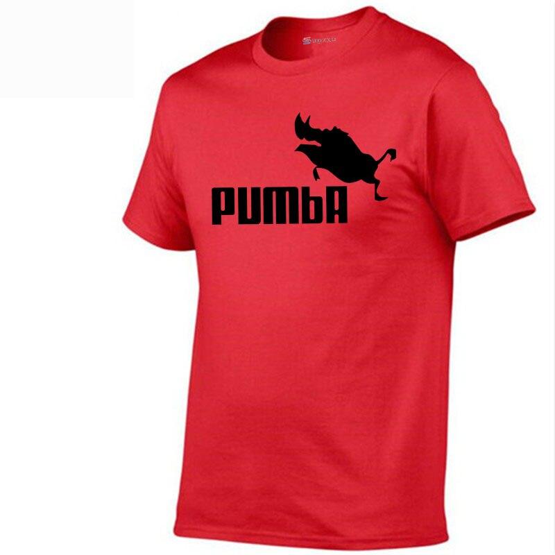 2018 funny tee cute t shirts homme Pumba men woman 100% cotton cool tshirt lovely kawaii summer jersey costume t-shirt shirt men