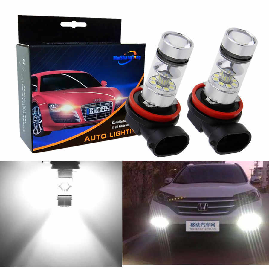 2pcs H11 H8 LED Fog Light Bulbs 9005 HB3 HB4 9006 Car Running Lights Auto Driving Lamp 12V 24V 6000K White