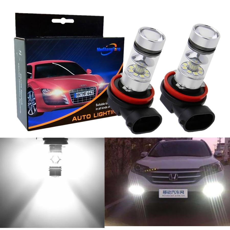 2pcs H11 H8 LED Fog Light Bulbs 9005 HB3 HB4 9006 Car Running Lights Auto Driving Lamp 12V 24V 6000K White