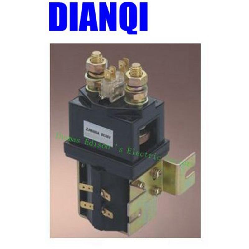 SW200 NO style Coil Voltage 12V 24V 36V 48V 60V 72V DC Contactor ZJW400A for forklift handling drawing wehicle car PUMP MOTOR tesys k reversing contactor 3p 3no dc lp2k1201md lp2 k1201md 12a 220vdc lp2k1201nd lp2 k1201nd 12a 60vdc coil