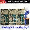 """Alta Qualidade da Tela de Toque Do Painel de Toque Digitador + Display LCD Para Huawei Honor 5X Jogar 5X5.5 """"celular Smart Phone Com Quadro"""