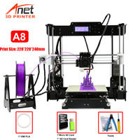 Hot Sale Competitive Anet A8 3D Printer Reprap Prusa i3 High Precision DIY FDM 3D Printer With Micro SD Card USB Connector