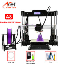 Anet A6 A8 A2 3D Printer High Print Speed Reprap Prusa i3 High precision Toys DIY 3D Printer Kit with Filament Aluminum Hotbed cheap auto leveling prusa i3 3d printer kit diy anet a8 large printing size with aluminum hotbed 1roll filament 8gb card lcd