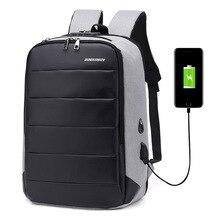 """جديد الرجال حقيبة السفر سعة كبيرة المراهقين الذكور Mochila الظهر مكافحة سرقة حقيبة USB شحن 17.2 """"محمول على ظهره مقاوم للماء"""