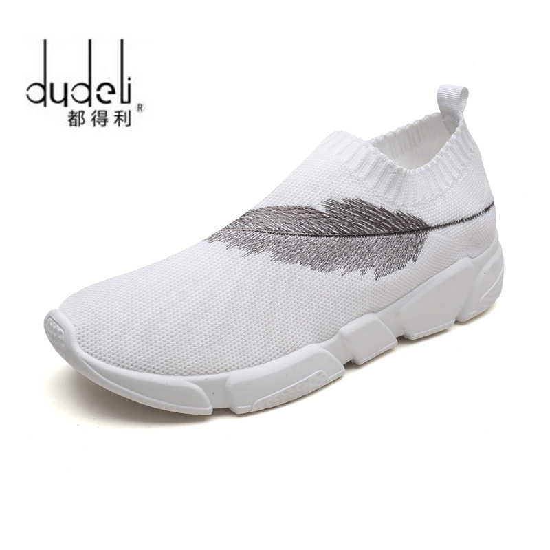 5c7b9e42489e ... DUDELI 2018 New Cool Athletic Men Sneakers Summer Breathable Mesh Sport  Shoes For Women Outdoor Super ...