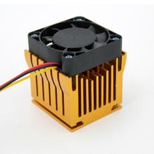Cubic Aluminum PC Chipset Cooling Radiator Mute Computer Heatsink Cooler Fan CPU System Brushless