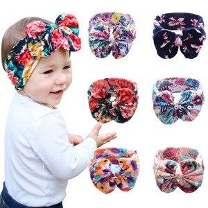 Girls Knot Headbands Cotton Hair Accessories for Girls Newborn Flower Hair band Kids Head Wrap Headwear
