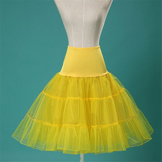 Online Shop Short Petticoat Crinoline Jupon Wedding Bridal Petticoat ...