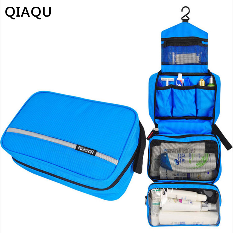 QIAQU Mens Hanging Toiletry Bag Foldable Waterproof Bag Toiletries Cosmetic Travel Kit For Women Hangable CaseTravel Accessories