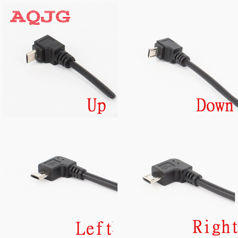 New Micro USB 5 Pin female to up angle 90 degree Micro 5P male plug Cable adapter  Down  angle  Right Left  angle  Wholesale 2pcs 90 degree up
