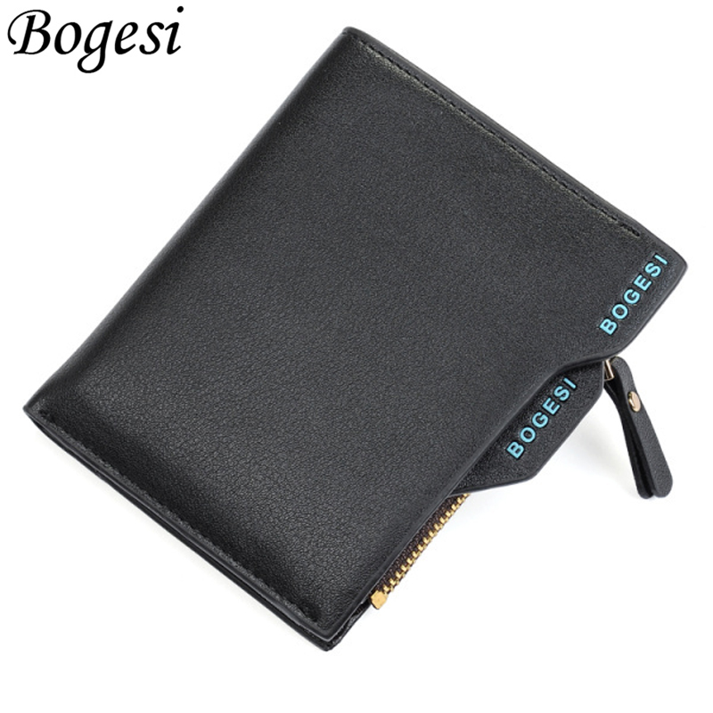 Short Clutches Male Card Holder Luxury Brand Small Fashion Men Wallet Man Purse For Coins Carteras Money Bags Slim Zipper Walets new fashion men wallet pu leather purse handbags for male luxury brand black no zipper men clutches free shipping card holder