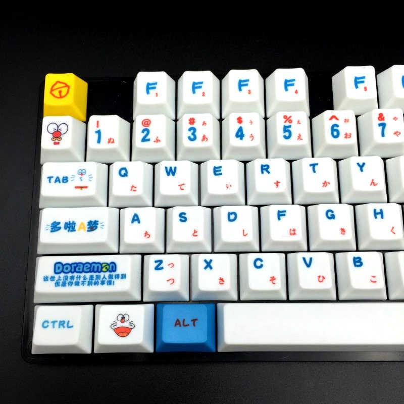 ドラえもん日本 Languag PBT キーキャップトッププリント 109 キーキャップセットプロファイルチェリー MX スイッチメカニカルゲーミングキーボード