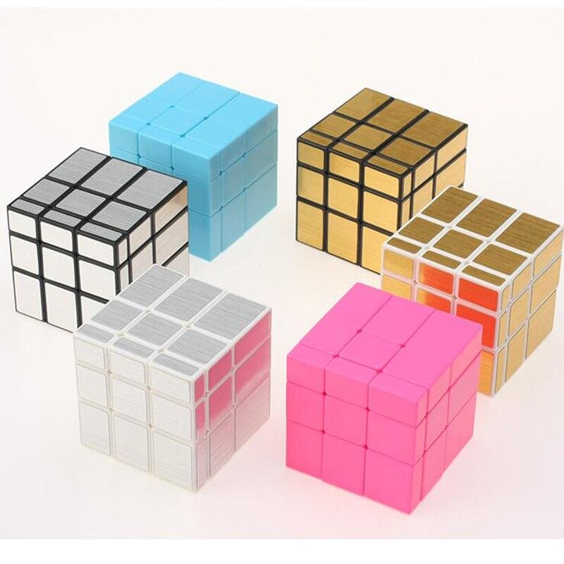 3x3x3 Enigma Velocidade Cube Fundido Revestido de Espelho Mágico Cubo Mágico Profissional Aprendizagem Educação Brinquedos Para As Crianças Cubo mágico