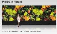 Tv studio LCD video wall 0 mm bezel Spliced video wall 4x8 lg 55'' Full HD LCD video wall
