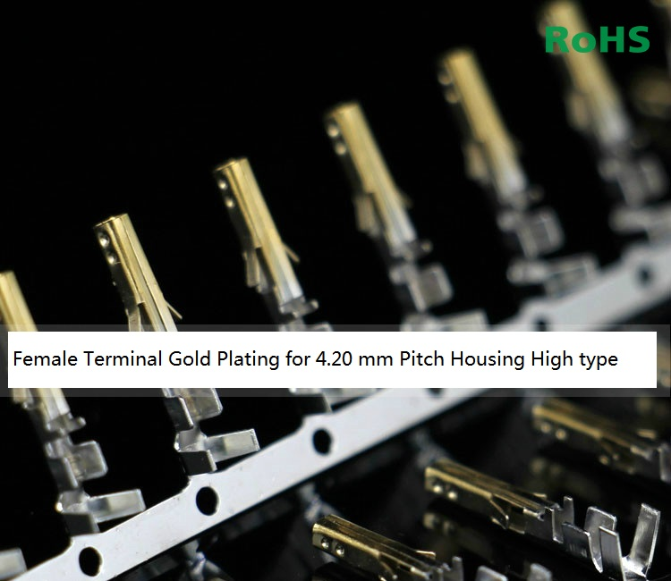 100pcs 4.20 mm 5557 Terminal Female needle For PC Computer Power 4.2 mm Pitch Male shell Gold plating High Type 3900-0039100pcs 4.20 mm 5557 Terminal Female needle For PC Computer Power 4.2 mm Pitch Male shell Gold plating High Type 3900-0039