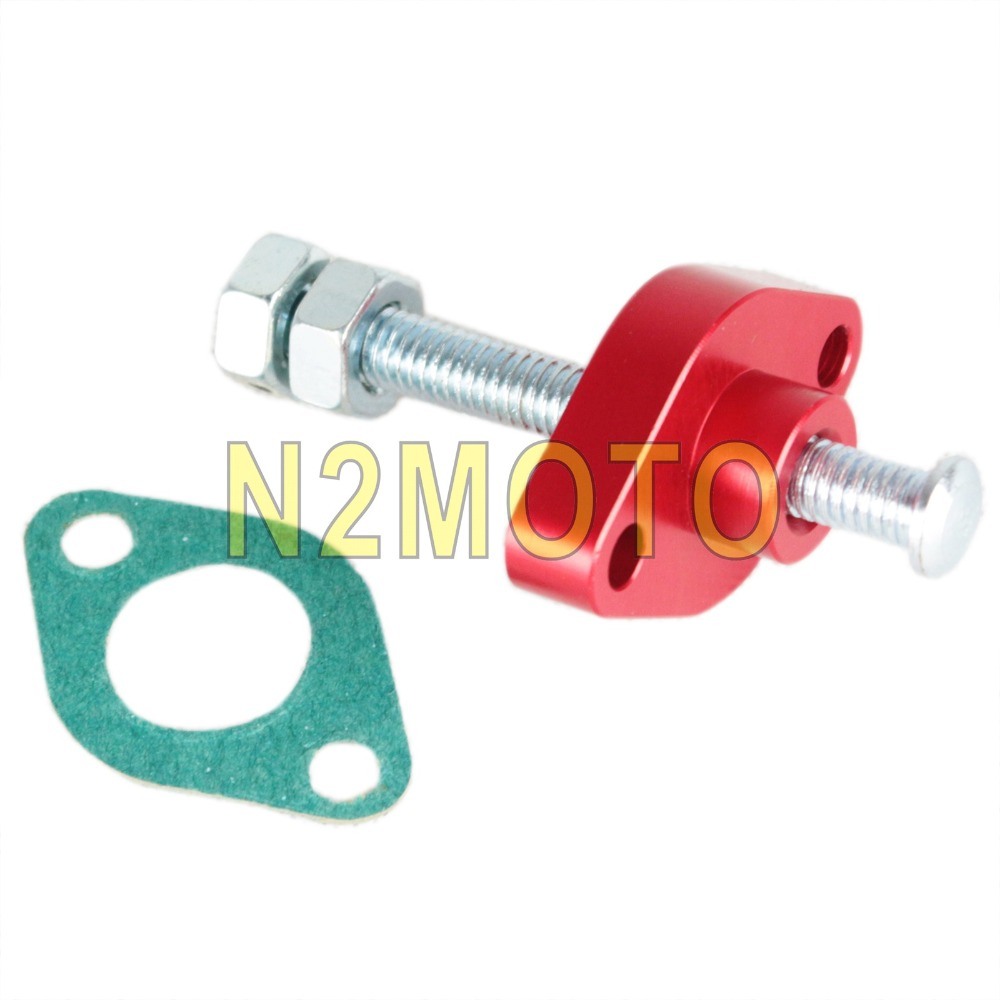 US $12 54 20% OFF|CNC Aluminum Manual Cam Chain Tensioner for Suzuki GSXR  600 750 1300 Yamaha SV 650 XV 700 750 1000 Street Bike-in Covers &
