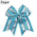 8'' High Quality Large Grosgrain Ribbon Cheer Bow Sweet Dot Cheerleading Bow Pretty Baby Girl Hair Accessories