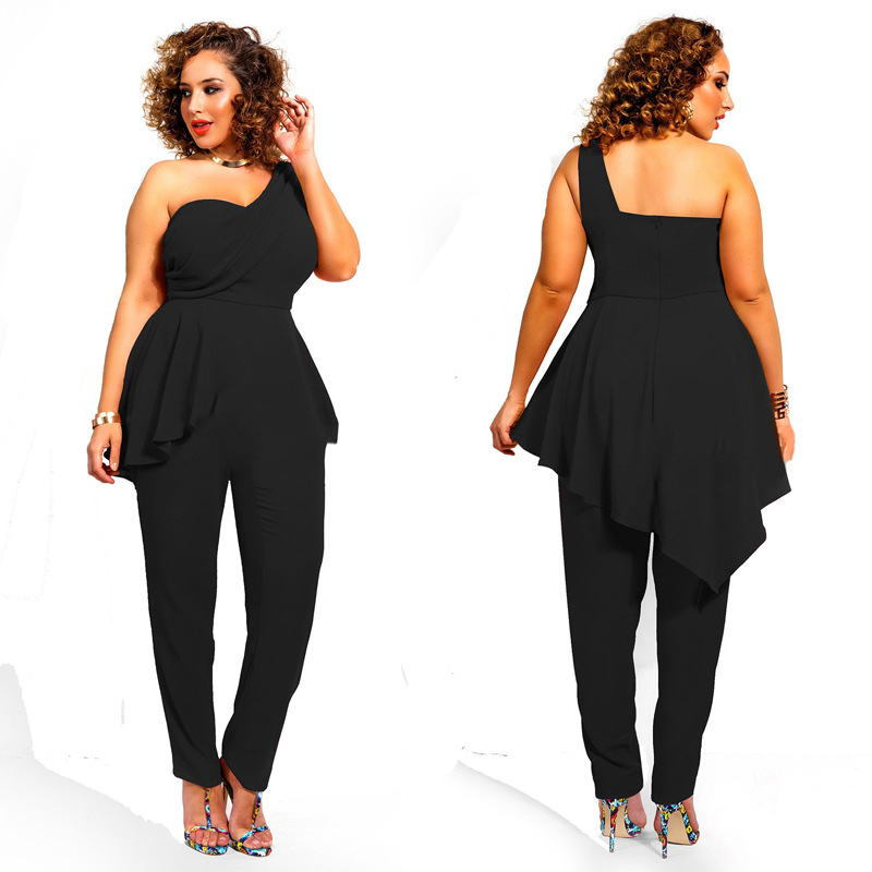 cb4d75dc2c7 2016 New Summer black combinaison femme elegante plus size jumpsuits and  rompers for women monos cortos de mujer-in Jumpsuits from Women s Clothing  on ...