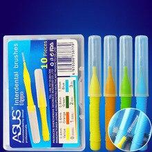 10 шт./кор. 0,4 мм 0,8 мм двухтактный для чистки межзубных пространств, потрясающая Мягкая тонкая зубная нить Зубная щётка Ортодонтическая щеточка для чистки Уход за полостью рта зубочистка-1 шт