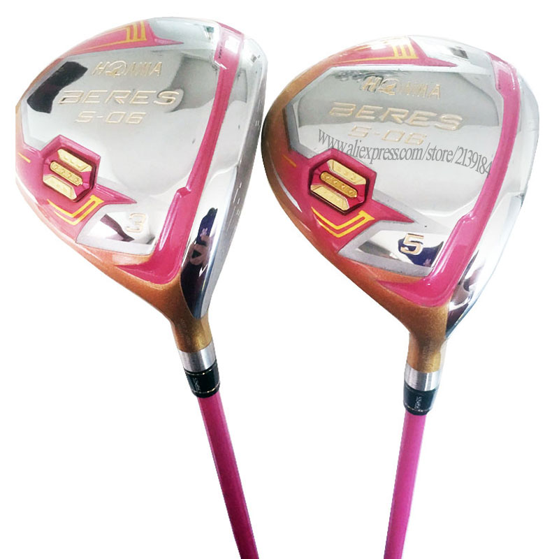 Cooyute New Women Golf Clubs HONMA S-06 Golf Fairway Wood 3/5wood Graphite Shaft L Golf Shaft And Wood Headcover Free Shipping