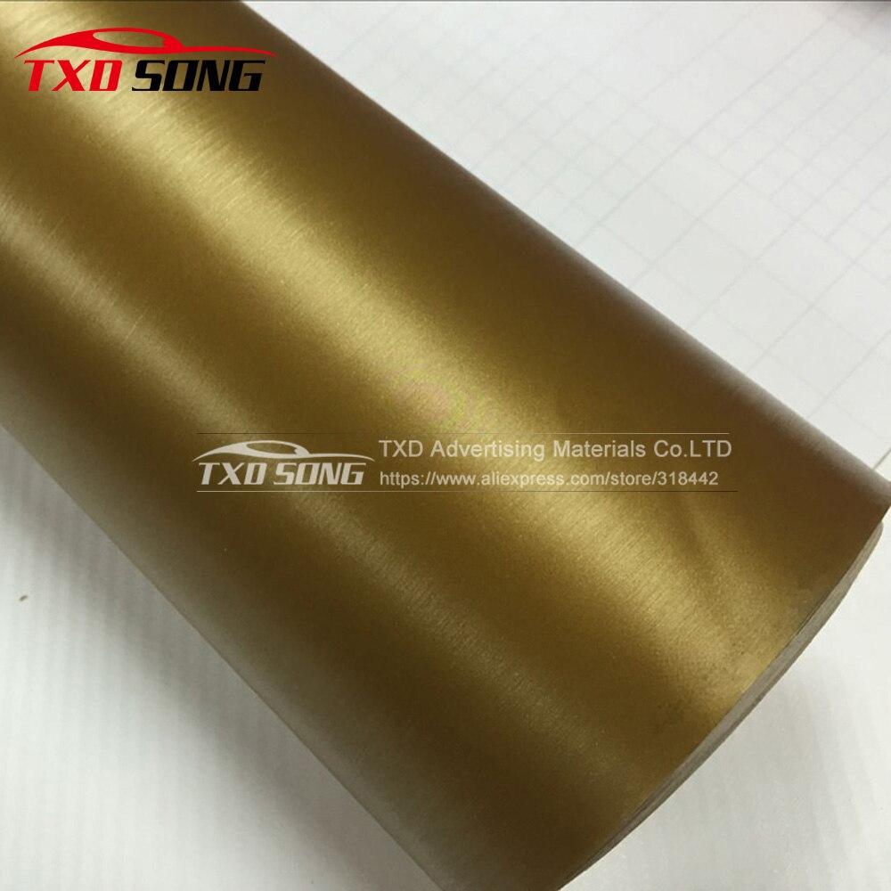 Высококачественная Золотая матовая алюминиевая виниловая наклейка на автомобиль черная темно серая серебряная металлическая щетка алюминиевая виниловая Автомобильная обертка