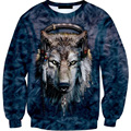 2017 New Arrival Hot Fashion Men's 3D Funny Print  Sweatshirt Crewneck Neck Long Sleeve Plus Size Brand Clothing Man Top