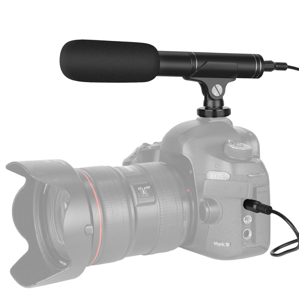 Neewer Camera Video Microphone Cardioid And Omnidirectional Condenser Mic For Canon Nikon Sony Panasonic Camera DSLR/iPhone