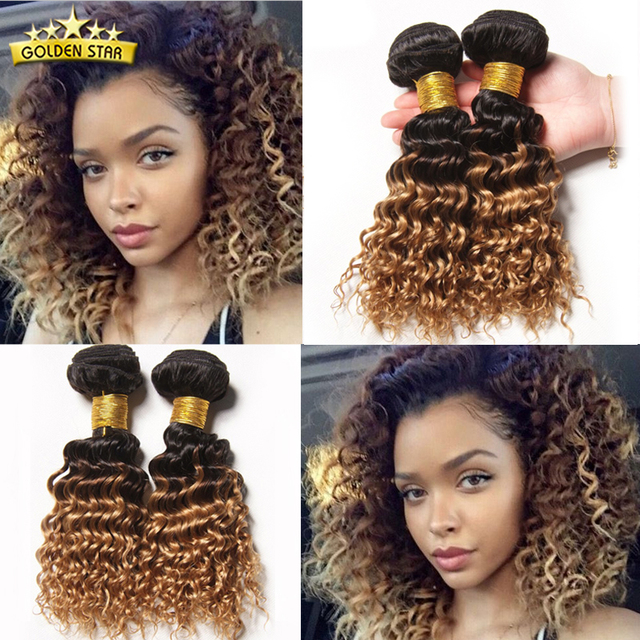 Grade 8a Ombre Brazilian Deep Wave Hair 4pcs Ombre Human Hair Weave