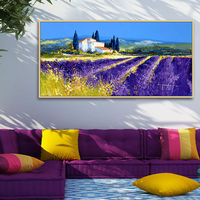 Artist Sales Hand Painted Oil Paintings Scents Of Lavender Home And Hotel Decoration Wall Arts On