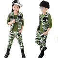 clothing set camouflage clothes boys outwear baby sets short t shirt+pants 2 pcs set clothes kids suit 5-13Years Free shipping