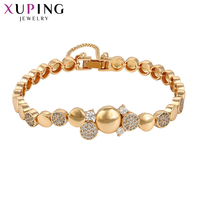 Xuping Luxury 2017 New Brand High Quality Bracelets Gold Color Plated With Synthetic CZ Copper For