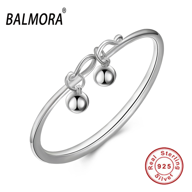 Free Shipping Authentic 925 Sterling Silver Jewelry Simple Cute Charm Bracelets Bangles for Women Girls Christmas Gifts SVB073