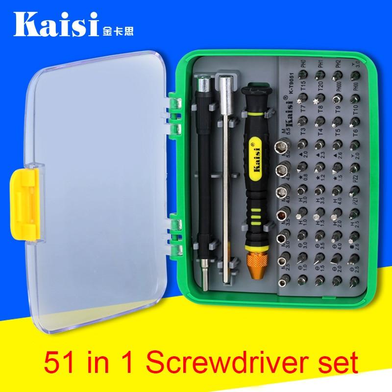 цена на Kaisi 51 in 1 Multifunction Screwdriver Sets Tools Professional Digital Repair Tools Mobile Phone Repair for iPhone,camera,PC