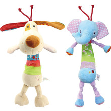 Musical Baby Toys Rattles Chidren's Pull to Shake Baby Toys Stuffed Animal Plush Toys Baby Hanging Strollers Toys gift