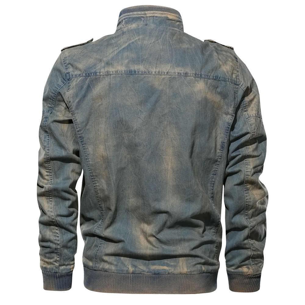 Nuevas chaquetas tácticas militares 2019 para hombre de talla grande 6XL ejército de carga de mezclilla