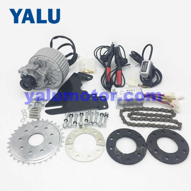 24/36V 450W MY1018 Left Electric Bike Motor Conversion Kit with 12T Black Left freewheel fit most Sprocket Chain Drive Bicycle